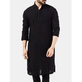 Herren Pakistan Kurta Kaftan Langarm Pyjama Ethnic Kleid Shirt Bluse Top NEU