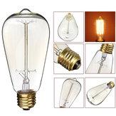 KINGSO ST64 E27 60 W Branco Quente Vintage Incandescente Edison Lâmpada Antiga para Casa Interior AC110V 220V