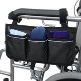 Sacoche latérale pour fauteuil roulant Multifonctionnel Accoudoir Pochette Organizer Bag Sac de rangement