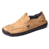 Menico Men Couro Genuíno Slip On Soft Sapatos Casuais