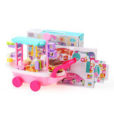36Pcs Candy Cart Ice Cream Toys Cart W/ Wheels Pretend Game Play Girl Birthday Gift