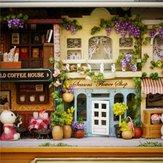 फर्नीचर के साथ 3 डी लकड़ी के डॉलहाउस लघु DIY गुड़िया हाउस किट 1:24 DIY बॉक्स थियेटर किट
