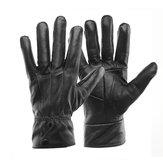 Women Winter Thermal Gloves Thicken Warm Sheepskin Velvet Leather Driving Mitten