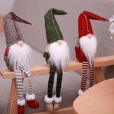 Loskii Noel Süslemeleri Hiçbir Yüz Noel Baba Doll Kolye Pencere Süsler Karikatür Noel Çocuklar için Asılı Ağaç Dekor Hediye