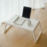 Jazy Multifunction Folding Small Square Table with Flat Card Slot Wearable Charging Hole from