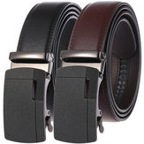 New Automatic Buckle Belt Men's Belt Two-layer Leather