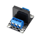 10pcs 1 Channel 5V Solid State Relay High Level Trigger DC-AC PCB SSR In 5VDC Out 240V AC 2A