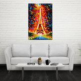 Miico pintado a mano Oil pinturas torre Eiffel paisaje pared arte para decoración del hogar
