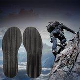 Men's DIY Pair of Anti Slip Grip-rubber Pads Glue On Soles Heel Shoe Repair Black