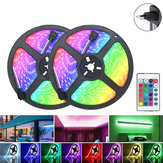 2M 3M 5M 10M EU Plug DC12V Waterproof RGB LED Light Strip +24Keys Remote Controller Outdoor Indoor Home Decor