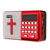 Electric USB Rechargeable Portable Bible Player Audio Speaker Talking FM Radio TF