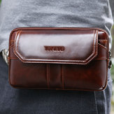 Men Genuine Leather Clutches Bag Belt Waist Phone Bag
