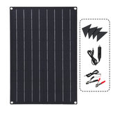 30W ETFE Solar Panel Waterproof Car Emergency Charger WIth 4 Protective Corners Double USB+DC