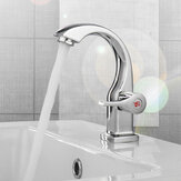 Modern Swan Neck Chrome Bathroom Basin Faucet Waterfall Spout Single Handle Sink Bath Mixer Tap