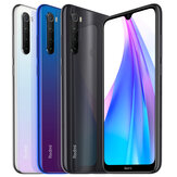 Xiaomi Redmi Nota 8T Global Version 6,3 polegadas NFC 48MP Câmera traseira quad 4GB 64GB Snapdragon 665 Octa core 4G Smartphone