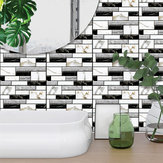10 PCS / Set 3D Wall Sticker Tile Brique Auto-adhésif Soft Bureau Decal Art Décorations pour La Maison