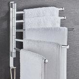 浴室の回転タオル掛けの壁に取り付けられた頑丈なタオルの棚タオルのホールダー