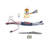 2217-2700 كيلو فولت فرش موتور + hobbywing 40A esc القوة نظام مجموعة ل طائرات rc طائرة