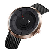 SKMEI 9174 Criativo pequeno triângulo exibição moda homens de aço preto assistir relógio de quartzo