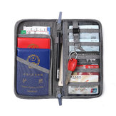 Men Women Passport Holder Multi-function Document Bag Travel Credit Card Wallet Organizer Storage Sports Bags