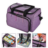 Knitting Tote Bag Yarn Storage Bag Purple For Thread Wool Yarn Crochet Hooks Knitting Needles and Accessories