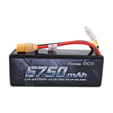 Gens ACE 14.8V 6750mAh 70C 4S1P XT90 Plug Lipo Battery for 1/8 RC Vehicles Model Car