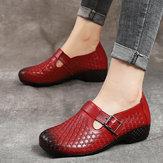 Mujeres Gancho Loop Patrón vendimia Zapatos planos ocasionales