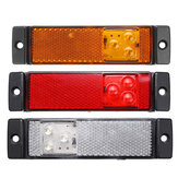 Original              3 LED Side Marker Lights with Rear Reflector Indicator 12-24V Amber/Red/White For Truck Lorry Trailer