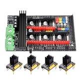 BIGTREETECH® 4Pcs TMC2130 DIY Modo paso a paso motor Controlador + Rampas mejoradas 1.6 Plus Base de tablero de control en rampas 1.6 / 1.5 / 1.4 para pieza de impresora 3D
