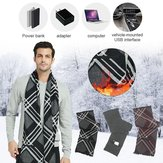 Cashmere USB Electric Scarf Rechargeable Heated Scarf Washable Scarf Warm Neck Protective Clothing