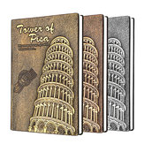Leaning Tower of Pisa Diary Book Vintage Leather Fashion Notebook Lined Paper 128 Sheets 256 Pages
