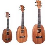 NAOMI 21/23/26 Inch Instrumento musical de ukelele Sapele en forma de piña de 4 cuerdas
