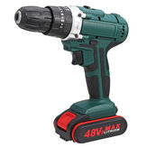 48V 2 Speed Power Drills Cordless Electric Drill 6500mAh 25+3 Torque Drilling Tool