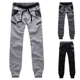 Mens Casual Jogging Calças Cargo Jogger Sports Calças Harem Aptidão Sweatpants