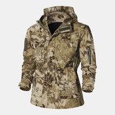 Abrigos de camuflaje a prueba de viento de algodón al aire libre para hombre