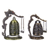 Bronze Bell Carved Dragon Boeddhistische klok Bronze Chinese Good Luck Bell Desk Decorations