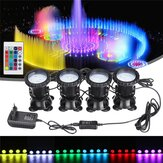 4 in 1 RGB LED Underwater Submersible Pond Spot Light Garden Tank Aquarium with Remote