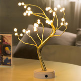 USB 36LED Pearl Tree Light Touch Control Lamp Night Light Christmas String Light