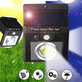 37 COB LED solare Luce PIR Sensore di movimento Sicurezza Gardern Outdoor lampada