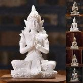 Siedząca tajska statua rzeźby Outdoor Indoor Statue Ornament Ozdoby do domu