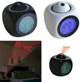 Digital Alarm Clock Wall Ceiling LED Projection Temperature Multifunction with Voice Talking