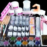 Acrylic Nail Professional Nail Art Set Acrylic Pink Rhinestone Decoration Set
