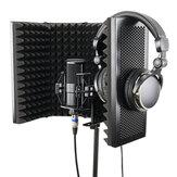 57,5 x 28 cm Faltbare Einstellbare Studioaufnahme Mikrofon Isolator Schallabsorbierende Schaumstoffplatte Mikrofon Isolation Shield Standhalterung