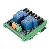 DC 5V 12V 24V 2 Channel 30A High And Low Level Trigger Relay Module PLC Automatic Control Module with Guide Rail for Smart Home