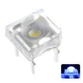 100 STÜCKE 5 MM 4Pin Transparent Round Top Objektiv Wasser Klar Glühbirne Emittierende Blaue Farbe LED Diode DIY Lampe DC3V