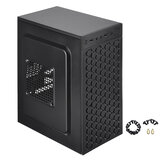 Micro ATX ITX Negro USB 2.0 Office Gaming Computer Destop Caso PC Casos LED Ventilador