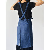 Denim Cowboy Japanese Style Kitchen Cooking Aprons Dress