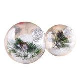 Bolas de plástico super claras árvores de natal diy que penduram brinquedos de decoração de bugiganga