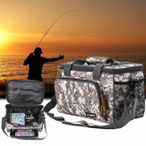 ZANLURE Canvas Fishing Bag ضد للماء حقيبة الصيد إغراء الطعم حقيبة متعددة الوظائف