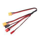 4 az 1-ben többtöltő kábel XT60 Csatlakoztassa a TF utaba XT60 JST csatlakozó vezetéket